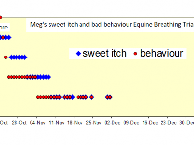 Equine Breathing sweetitch trial Megs results chart
